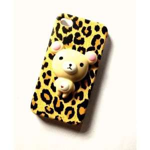 Rilakkuma Bear Cute 3d Leopard Print Kawaii Iphone 4 / 4s