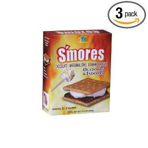 Fun Pack Foods Smores Kit Outdoors and Indoors, 11.4 Ounce (Pack of 3