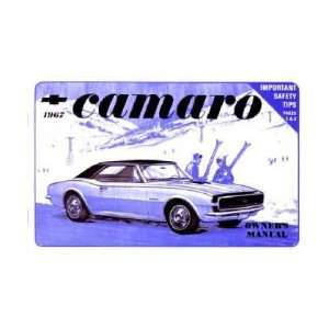 1967 CHEVROLET CAMARO Owners Manual User Guide Everything