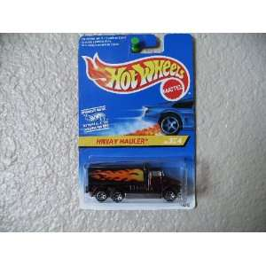 Hot Wheels, Hiway Hauler Foreign Card Burgundy with 7