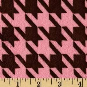 61 Wide Minky Cuddle Montage Hot Pink/Brown Fabric By