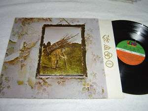 LED ZEPPELIN IV Four Zoso LP Stairway to Heaven VG/VG+