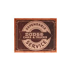 Dodge Dependable Service Metal Sign