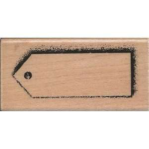 Long Shadow Tag Wood Mounted Rubber Stamp (L123) Arts