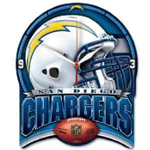 San Diego Chargers NFL High Definition Clock