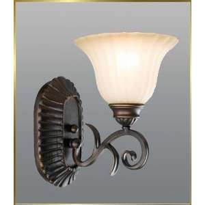 Wrought Iron Wall Sconce, JB 7371, 1 light, Oiled Bronze, 7 wide X 11