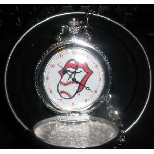 Officially Licensed Rolling Stones Tour Collection Pocket Watch Tongue