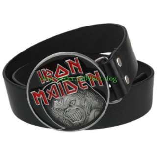 IRON MAIDEN EDDIE KILLER BUCKLE Free PU Belt Xmas Gift X63