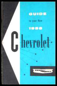 1958 Chevrolet Chevy Original Owners Owners Manual