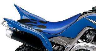 YAMAHA RAPTOR YFM 660 Seat Cover GRIPPER BLUE FLAME