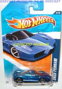 FERRARI ENZO BLUE HOT WHEELS HW DIECAST 2011