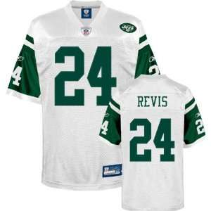 Mens Darrelle Revis New York Jets White Jersey Stitched Name & Number