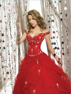 Embroidery Off the shoulder Ball Gowns Quinceanera/Prom/Party/Evening
