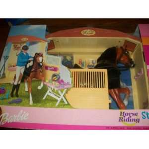 Barbie Horse Riding Stable Gift Set Toys & Games