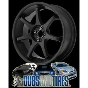 18 Inch 18x8 MOTEGI RACING wheels MR121 Satin Black wheels rims