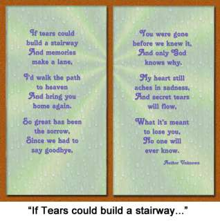 If Tears Could Build a Stairway Pet Loss Sympathy Gift Brown w/ Foil