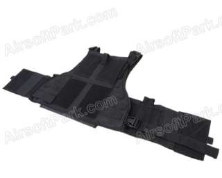 Airsoft Tactical Combat USMC MOLLE Assault Vest   Black