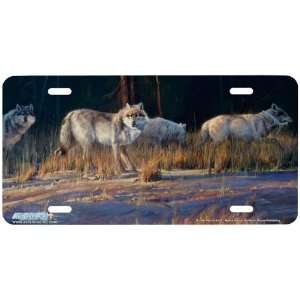 6528 Border Patrol Wolf License Plate Car Auto Novelty Front Tag by