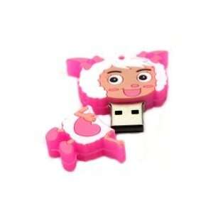 8GB Lovely Sheep Cartoon USB Flash Drive Pink Electronics