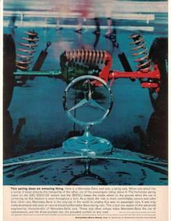 1960 Mercedes Benz Rear Axle Springs Hood Ornament Ad