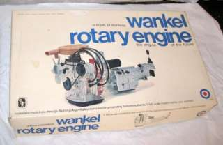 Vintage Wankel Rotary Engine Model Kit by Entex Unique Pistonless 1/15