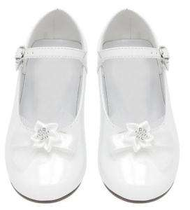 GIRLS DRESS SHOES Wedding Pageant TODDLERS & KIDS White