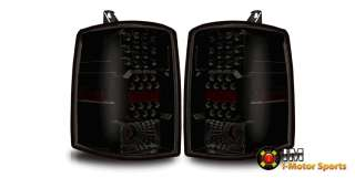 97 98 Jeep Grand Cherokee LED Tail Lights Black Housing Smoke Lens