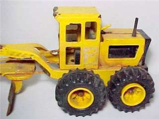 Nylint Road Grader Plow Vintage Pressed Steel 1970s Toy Sand Gravel