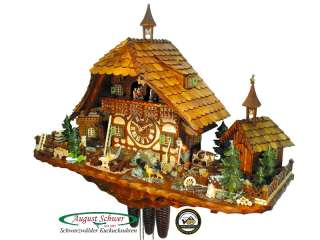 Black Forest Cuckoo Clock 8 Day Goat Peters Farm NEW