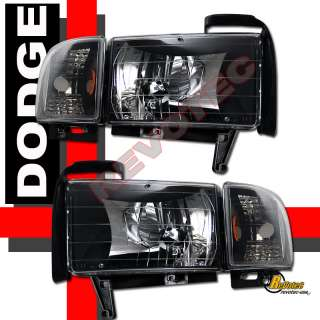 DODGE RAM 1500 2500 3500 HEADLIGHTS & CORNER SIGNAL & LED TAIL LIGHTS