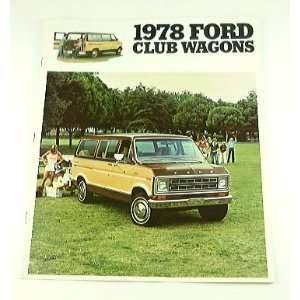 1978 78 Ford CLUB WAGON Van BROCHURE