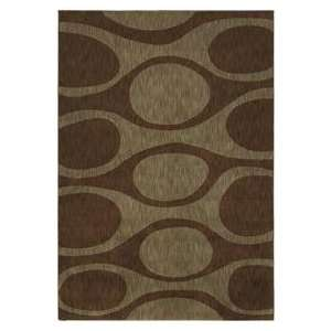 Shaw Angela Adams Kenga Dark Brown 10710 Contemporary 52 x 79 Area