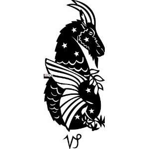 CAPRICORN ZODIAC SIGN 10 WHITE VINYL DECAL STICKER