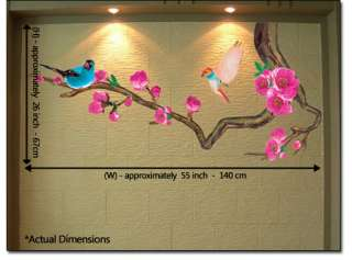 Japanese Ume Flower Tree Wall STICKER Removable Decal