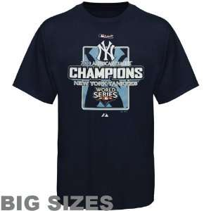 Majestic New York Yankees Navy Blue 2009 ALCS Champions Official