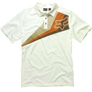 Fox Racing Alliance Polo   Small/Vintage White Automotive