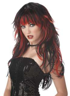 Brand New Tempting Tresses Costume Wig Red/Black 70056