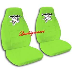 green Cow Girl car seat covers for a 2002 Toyota Camry. Automotive