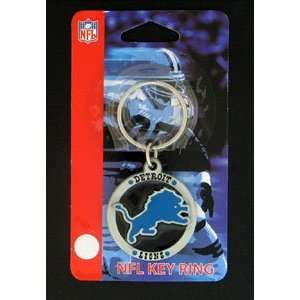 Detroit Lions NFL Logo Key Ring