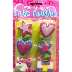 Mini Molded Cake Candles   Princess Theme Shaped Birthday Cake