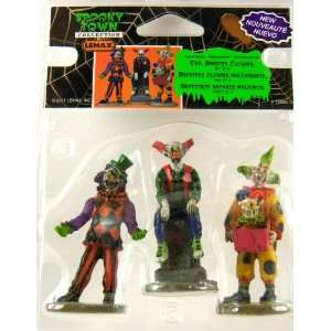 Lemax Spooky Town Halloween Evil Sinister Clowns, Set of 3