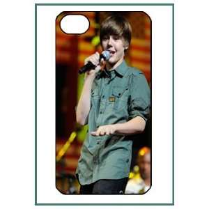 Justin Bieber Pop Star iPhone 4 iPhone4 Black Designer