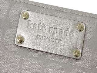 NEW Kate Spade Thompson Street Noel Silver Wallet Neda