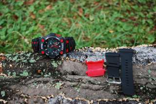 Sports Camping Survival Watch 550 paracord Thin Red Line Fireman Black