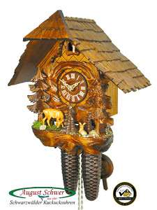 Black Forest Cuckoo Clock 8 Day The Deer Family NEW