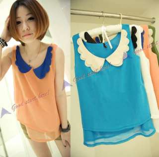2012 New Fashion korean Women Girl Elegant Chiffon Pleated dress 2