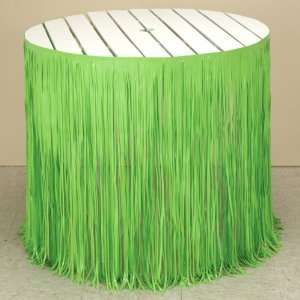 Creative Converting Citrus Green Fringe Table Skirt
