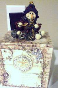 1997 BOYDS BEARS WEE FOLKSTONE PEARL TOO THE KNITTER