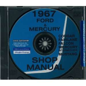 FAIRLANE FALCON MUSTANG RANCHERO MERCURY Shop Service Manual Book CD