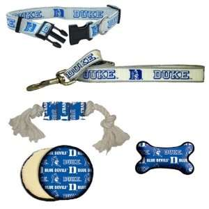 Duke Blue Devils Dog Collar, Lead, & Toy Gift Set